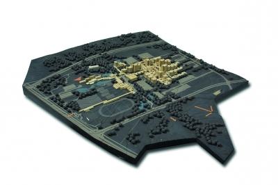 Städtebauliches Modell, 1:1000, ca. 110 x 120 x 15 cm (Nachlass Kafka, A:AI KFK M11)