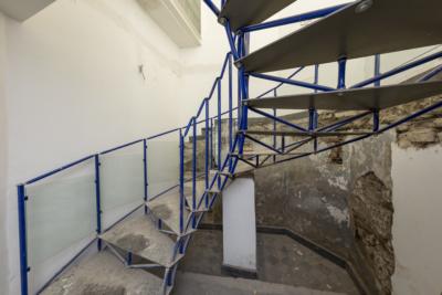 Baukunstarchiv NRW, Innentreppe, Revitalisierung Stand September 2017