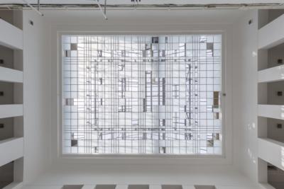 Baukunstarchiv NRW, Glasdach im Lichthof, 09/2017
