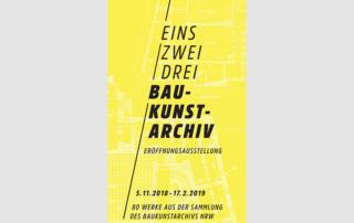 Ausstellungsflyer Eröffnungsausstellung Baukunstarchiv NRW