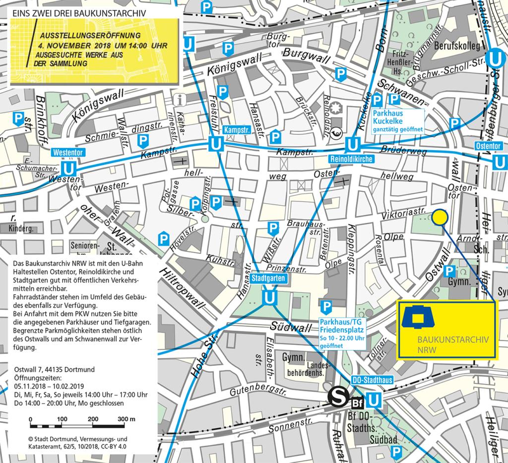 Anfahrtskizze Baukunstarchiv NRW
