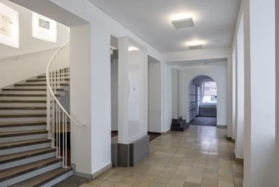 Aufgang Treppenhaus Baukunstarchiv NRW 2019, Foto: Detlef Podehl