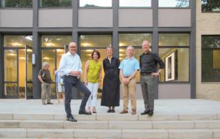 Dr. Holger Mertens (LWL), Birgit Niedergethmann (Stadt Dortmund), Prof. Heike Hanada (TU Dortmund), Prof. Dr. Wolfgang Sonne (Baukunstarchiv NRW) und Christof Rose (AKNW)
