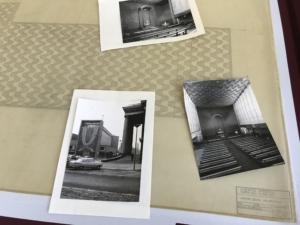 historische Archivfotos auf altem Plan