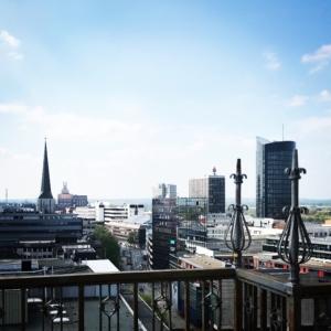 Blick von der Reinoldikirche auf die Dortmunder Innenstadt