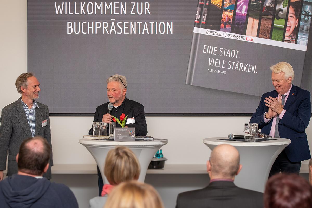 Buchpräsentation mit Prof. Dr. Wolfgang Sonne, Thomas Kampmann, Oberbürgermeister Ullrich Sierau