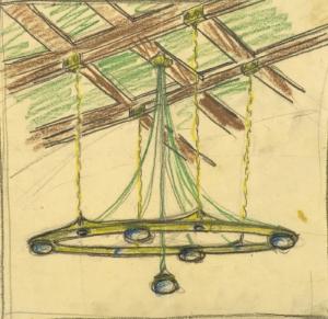Ernst Ludwig Kirchner, Entwurf für einen Deckenlüster