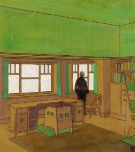 Ernst Ludwig Kirchner, Entwurf eines Herrenzimmers