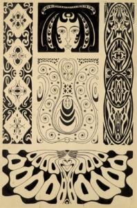 Ernst Ludwig Kirchner, Fünf Jugendstilornamente