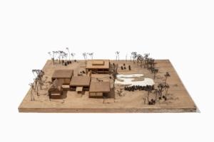 Museum Quadrat Bottrop, Modell Erweiterungsbau Nachlass Bernhard Küppers, Baukunstarchiv NRW, Foto: Detlef Podehl