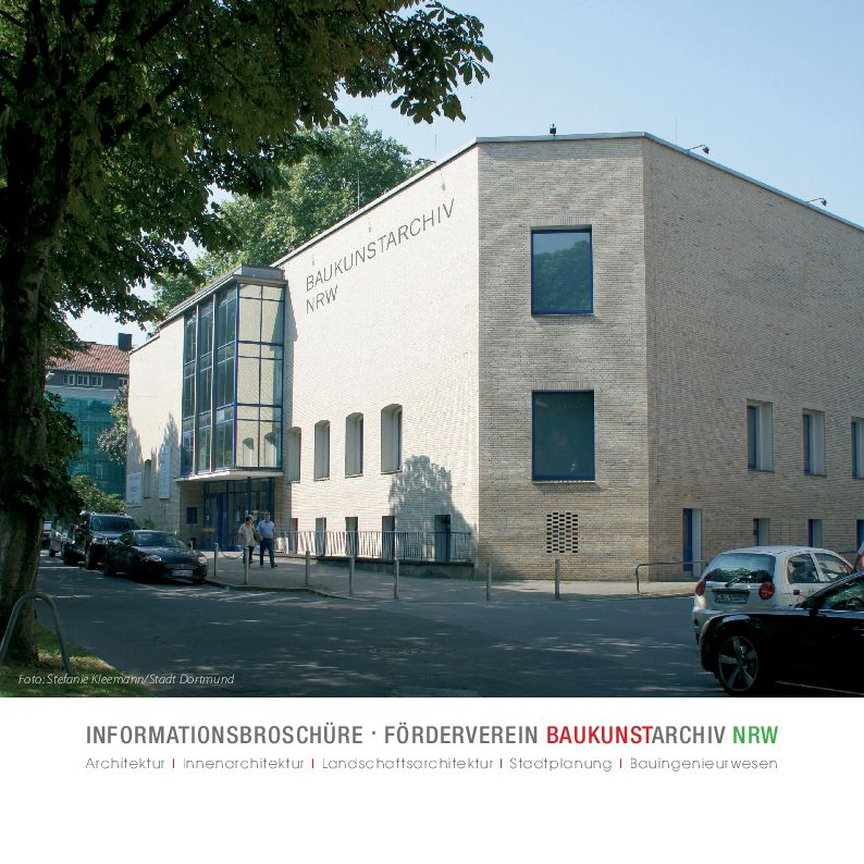 Cover Informationsbroschüre Förderverein Baukunstarchiv 2017