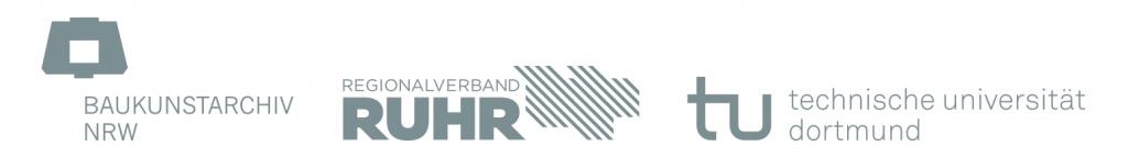 Logoband Baukunstarchiv NRW, Regionalverband Ruhr, TU Dortmund